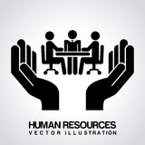 Human resources design Stock Image