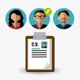 Human resources design. Human resources design over white background, illustration royalty free illustration
