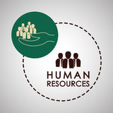 Human resources design. people icon. employee concept Stock Photography