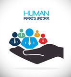 Human resources design. Stock Images