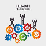 Human resources design. Stock Photo