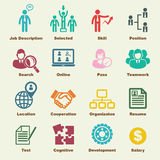 Human resources elements. Vector infographic icons Royalty Free Stock Images