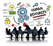 Human Resources Employment Job Teamwork Business Meeting Concept stock images