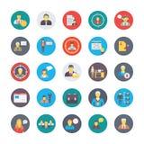 Human Resources Flat Circular Icons Set 1 royalty free illustration