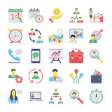 Human Resources Flat Colored Icons Set 2 vector illustration