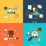 Human resources flat icons composition Stock Image