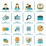 Human resources flat icons set Royalty Free Stock Photos