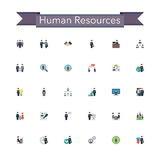 Human Resources Flat Icons Royalty Free Stock Images