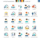 Human Resources Flat Set 02 Stock Images