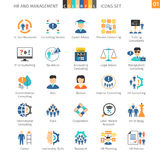 Human Resources Flat Set 01. Human Resources And Management Flat Icons Set 01 Royalty Free Stock Photography