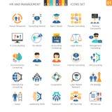Human Resources Flat Set 01 Royalty Free Stock Photography