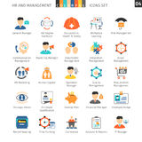 Human Resources Flat Set 04 Stock Photos