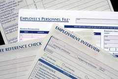 Human Resources Forms Stock Image