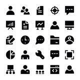 Human Resources Glyphs Icons 1 Royalty Free Stock Photography