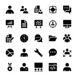 Human Resources Glyphs Icons 1 Royalty Free Stock Photo