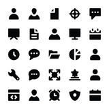 Human Resources Glyphs Icons 1 Stock Photo