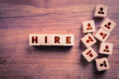 Human resources hire people. Employment agency and pool concept royalty free stock photos