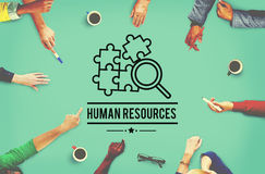 Human Resources Hiring Employment Contact Concept.  stock photo