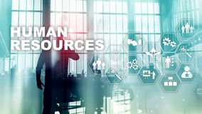 Human Resources HR management concept. Human resources pool, customer care and employees. Human Resources HR management concept. Human resources pool, customer royalty free stock photo