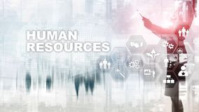 Human Resources HR management concept. Human resources pool, customer care and employees. Human Resources HR management concept. Human resources pool, customer royalty free stock photos