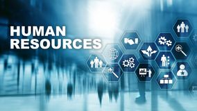 Human Resources HR management concept. Human resources pool, customer care and employees. Human Resources HR management concept. Human resources pool, customer stock photo
