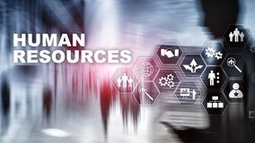 Human Resources HR management concept. Human resources pool, customer care and employees. stock photography