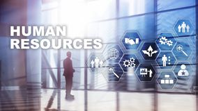 Human Resources HR management concept. Human resources pool, customer care and employees. Human Resources HR management concept. Human resources pool, customer stock photos