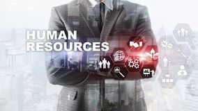 Human Resources HR management concept. Human resources pool, customer care and employees. Human Resources HR management concept. Human resources pool, customer royalty free stock images