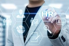 Human Resources HR management Recruitment Employment Headhunting Concept Royalty Free Stock Image