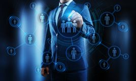 Human Resources HR management Recruitment Employment Headhunting Concept.  stock illustration