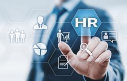 Human Resources HR management Recruitment Employment Headhunting Concept Royalty Free Stock Images