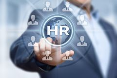 Human Resources HR management Recruitment Employment Headhunting Concept Stock Image