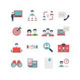 Human Resources Icon Set Royalty Free Stock Photos
