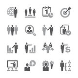 Human resources Icon Set. A set of 16 human resources related icons Royalty Free Stock Photos