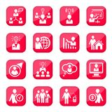 Human resources icons Stock Photography