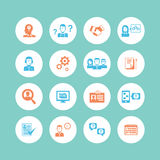 Human Resources Icons Stock Images