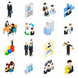 Human resources icons set Royalty Free Stock Photography