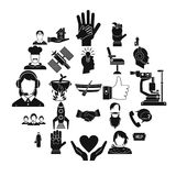 Human resources icons set, simple style. Human resources icons set. Simple set of 25 human resources vector icons for web isolated on white background Stock Photography