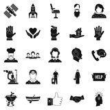 Human resources icons set, simple style. Human resources icons set. Simple set of 25 human resources vector icons for web isolated on white background Royalty Free Stock Photo