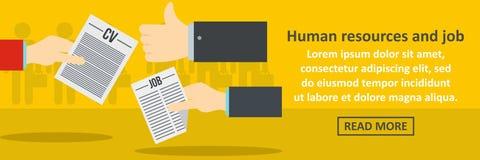 Human resources and job banner horizontal concept Stock Photography
