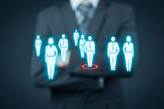 Human resources and leader Royalty Free Stock Photo