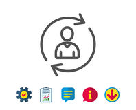 Human Resources line icon. User Profile sign. Stock Image