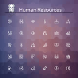 Human Resources Line Icons Royalty Free Stock Photos