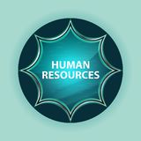 Human Resources magical glassy sunburst blue button sky blue background