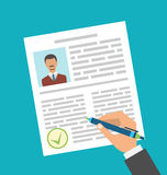 Human Resources Management, Approval Resume Royalty Free Stock Photo