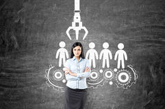 Human resources management Stock Image