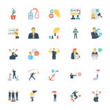 Human Resources and Management Colored Vector Icons 10 stock illustration