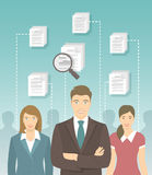 Human Resources Management Flat Concept Royalty Free Stock Images