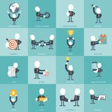 Human resources and management Icon set. Business, management and finances icon set. Flat  illustration Stock Image