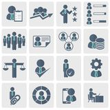 Human resources and management Icon set. Flat vector illustration. Human resources and management Icon set for websites and mobile applications. Flat vector Stock Photos